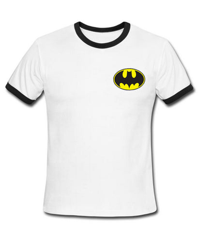 batman logo ringer shirt