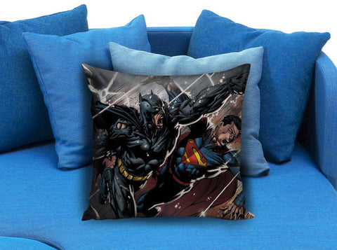 batman vs superman marvel superhero Pillow case