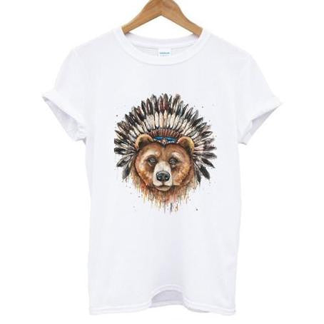 bear heanddress tshirt