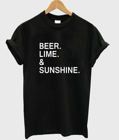 beer lime & sunshine T shirt