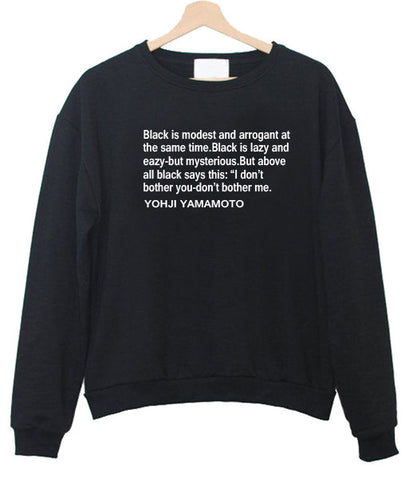 black is modest sweatshirt