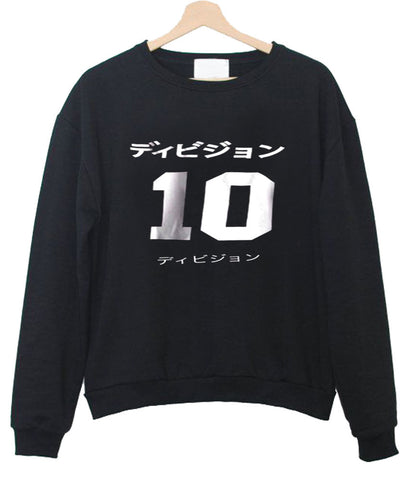 black japanese jersey sweatshirt