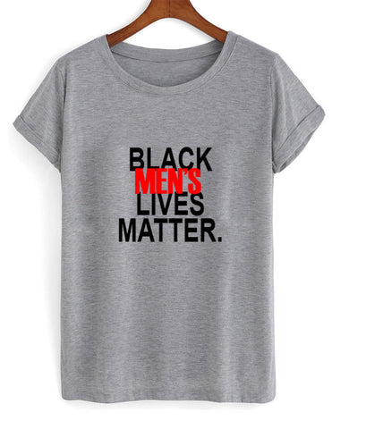 black mens lives matter t shirt