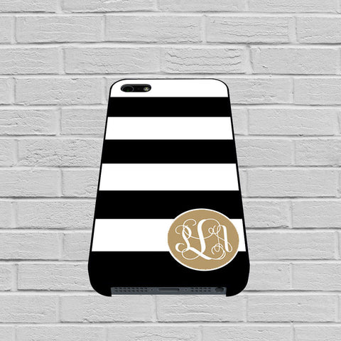 black striped matte gold monogram case of iPhone case,Samsung Galaxy