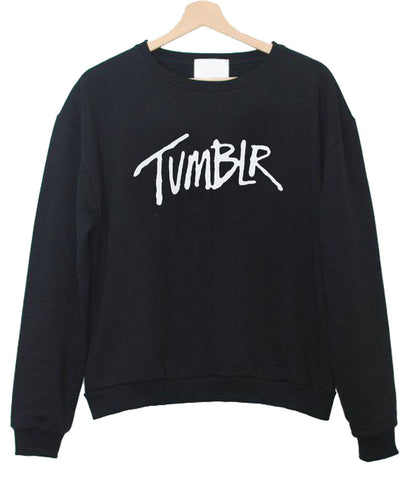 black tumblr sweatshirt