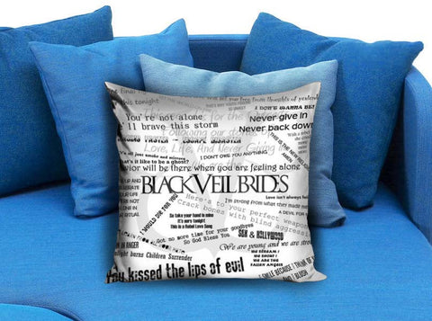 black veil brides collage derocative Pillow case