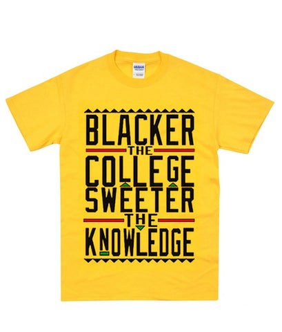 blacker the college sweeter the knowledge t shirt