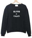 blair and chuck sweatshirt