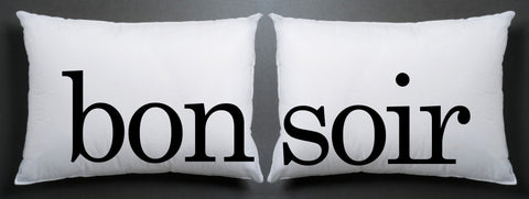 bon soir Pillow case couple pillow case