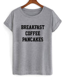breakfast coffee pancakes T shirt