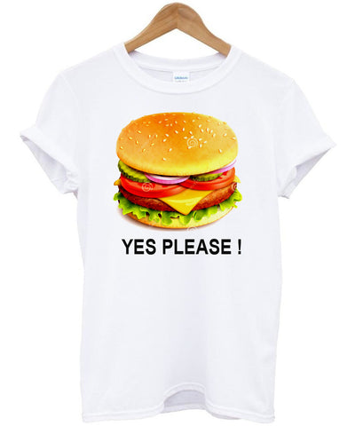 burger tee yes tshirt