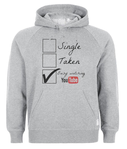 busy watching youtube hoodie