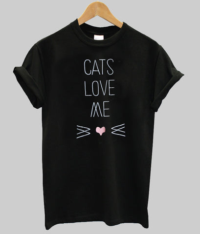 cats love me T shirt
