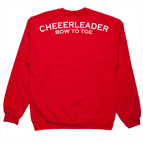 cheeerleader bow to toe sweatshirt back