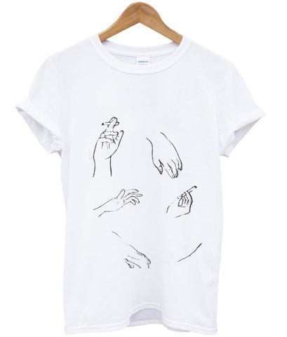 cigarettes hands T shirt