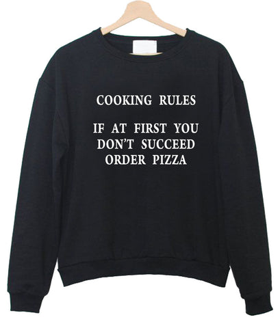 cooking rule sweatshirt