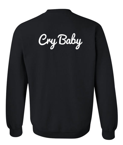 cry baby sweatshirt back