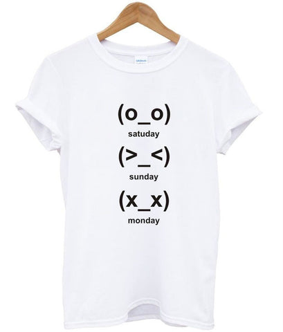 cute emoji days tshirt