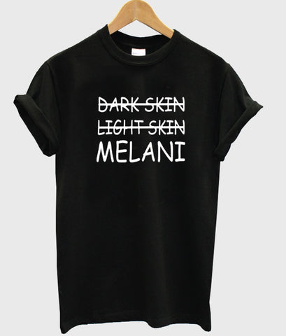 dark skin light tshirt