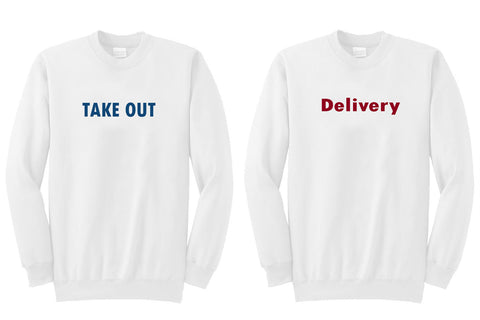 delivery dan take out sweatshirt