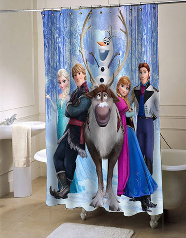 disney frozen custom shower curtain customized design for home decor