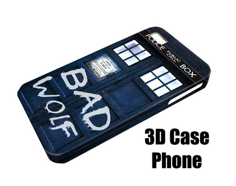 dr who bad wolf Design 3D Case Phone case iPhone case Samsung Galaxy Case