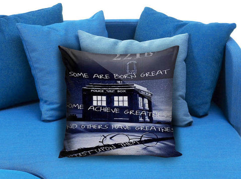 dr who tardis box harry potter quotes Square Pillow case