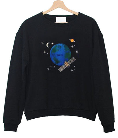 earth satelite sweatshirt