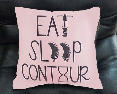 eat sleep conture Pillow case