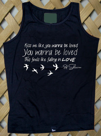 ed sheeran kiss me Tank top
