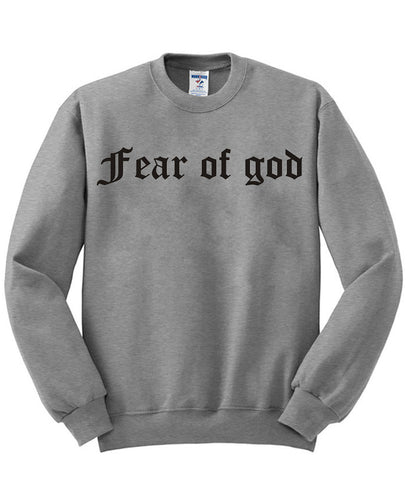 fear of god sweatshirt
