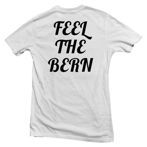 feel the bern tshirt back
