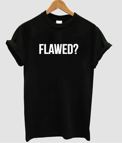 flawed tshirt black