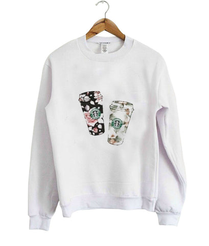 flower starbucks Sweatshirt
