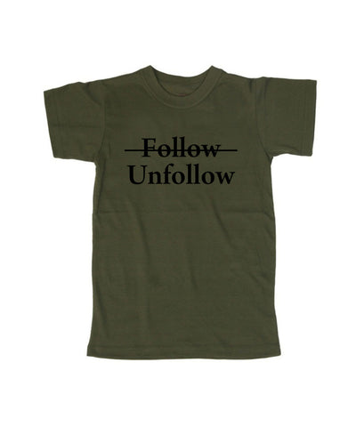 follow unfollow  T shirt