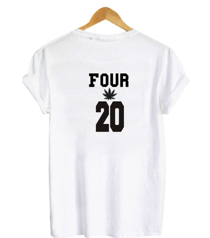 four 20 tshirt back