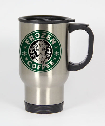 Frozen coffee starbucks logo parody Travel mug