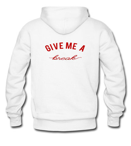 give me a break hoodie black