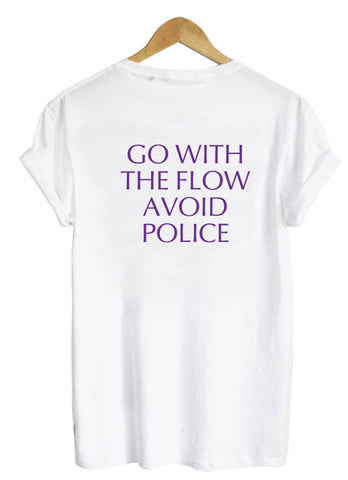 go with the flow TSHIRT back