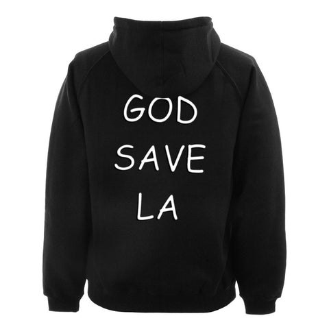 god save back hoodie