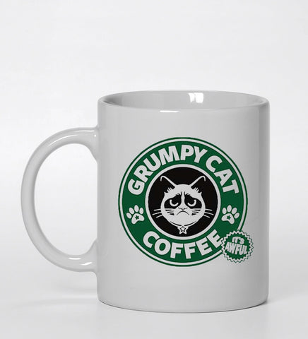 grumpy cat coffee Ceramic Mug