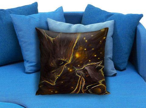 guardians of the galaxy groot rocket Pillow case