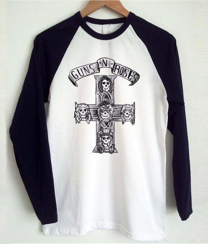 guns n roses appetite for destruction raglan longsleeve