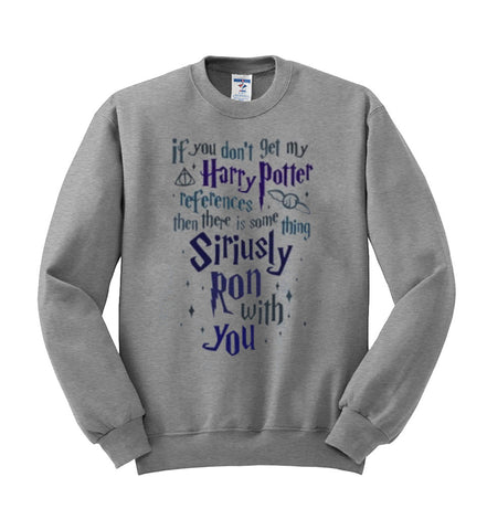 harry potter grey sweatshirt