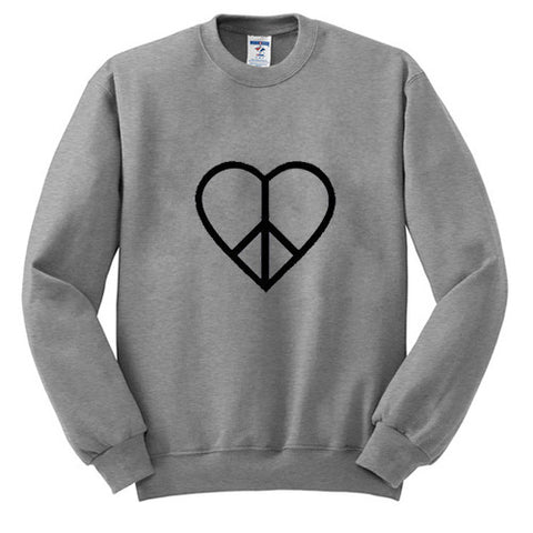 heart love sweatshirt