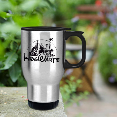 Hogwarts castle as disney castle Travel mug