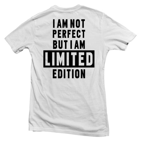 i am not perfect T shirt back