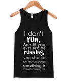 i don't run tanktop
