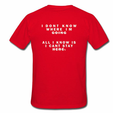 i dont know tshirt back