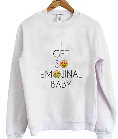 i get so emojinal baby sweatshirt